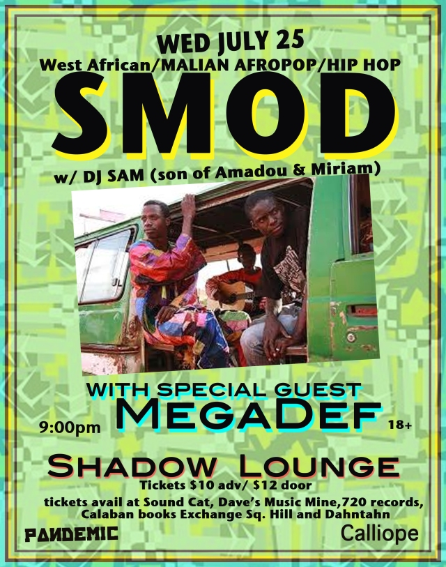 SMOD at Shadow Lounge July 25