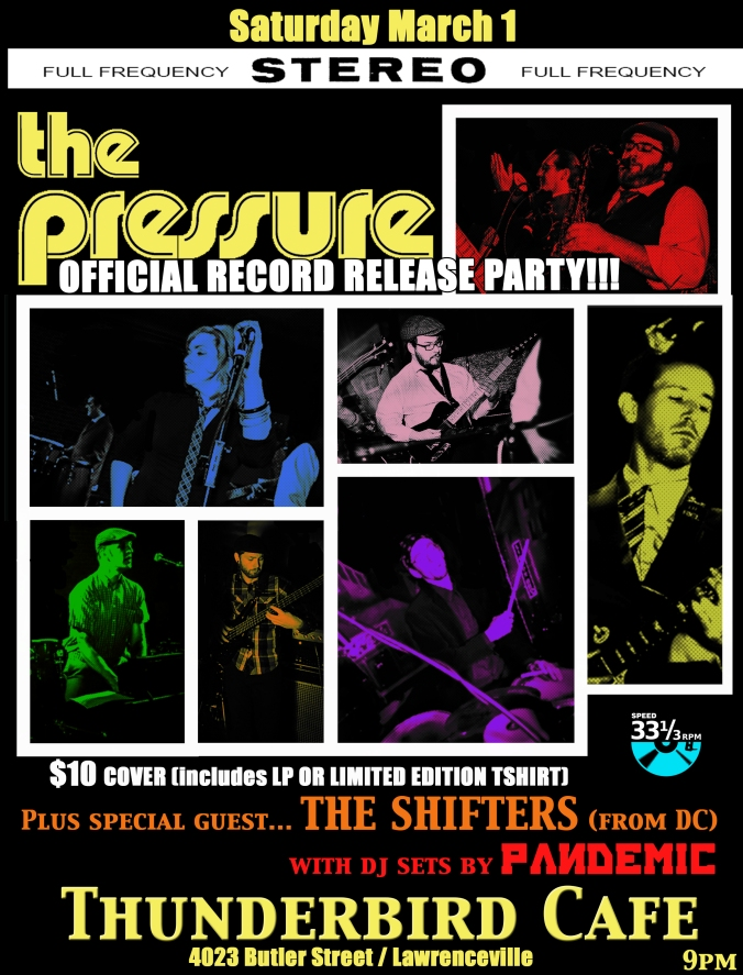 PANDEMIC, THE PRESSURE, THE SHIFTERS, THUNDERBIRD CAFE, PITTSBURGH, REGGAE