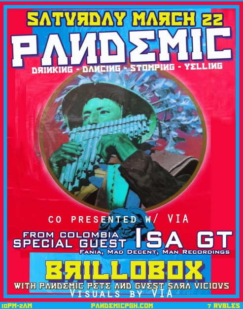 PANDEMIC at Brillobox